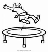 Trampoline Trampolin Clipart Trampolino Malvorlagen Coloring Malvorlage Disegno Jumping Kid Diverse Ausmalen Colorare Misti Gratis Clipground Clipartmag Kategorien Condividi sketch template