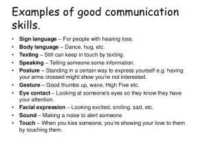 Good Communication Skills Resume Examples
