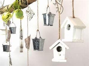 Deko Vögel Zum Aufhängen : creatina ast aus birkenholz zum aufh ngen mit holzblume ~ Michelbontemps.com Haus und Dekorationen
