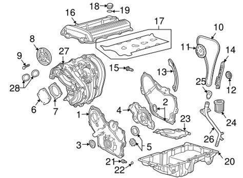 Alero Engine Diagram by Engine Parts For 2004 Oldsmobile Alero