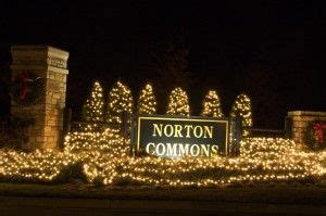 neighborhood entrance christmas decorations entrance at norton commons home for the holidays