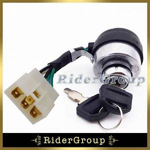 6 Wire On Off Kill Ignition Switch Key For Gasoline