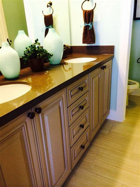 Silestone Vanity Top by Woodmont Classic Maple Cabinets With Silestone Vanity Top