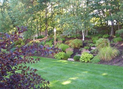 hillside garden sloping landscape ideas pinterest hillside garden  england