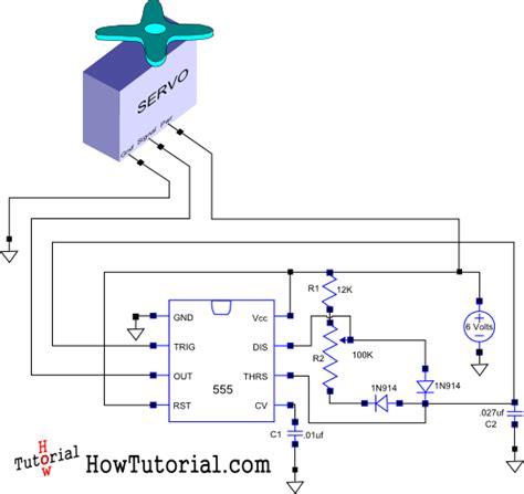 build  simple circuit  control  servo