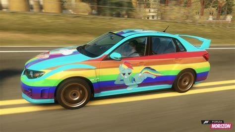 rainbow glitter car rainbow dash subaru car by dashiesparkle on deviantart