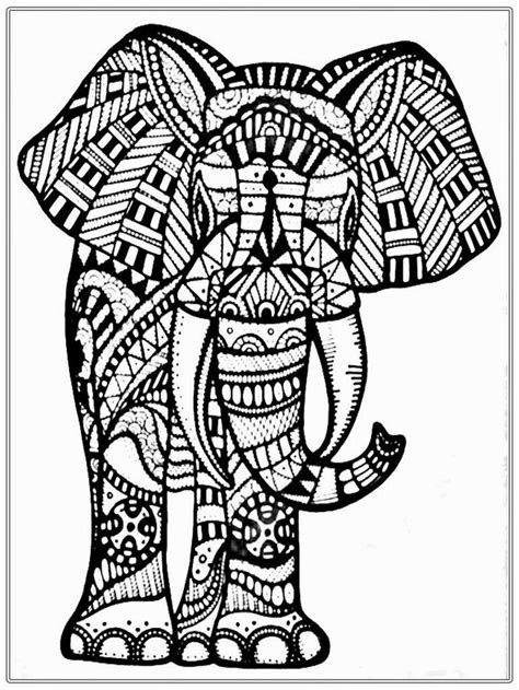big elephant coloring pages for adult www