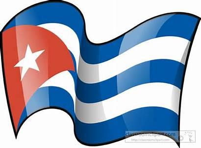 Cuba Flag Clipart Flags Waving Cuban Clip