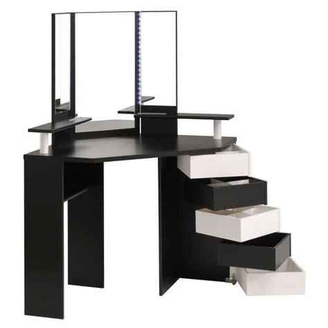 bureau coiffeuse pas cher glam coiffeuse style contemporain décor noir et blanc avec