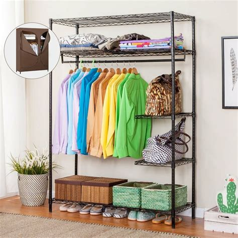Rack Closet by 2 Tier Wire Shelving Clothes Rack Organizer Zip Closet
