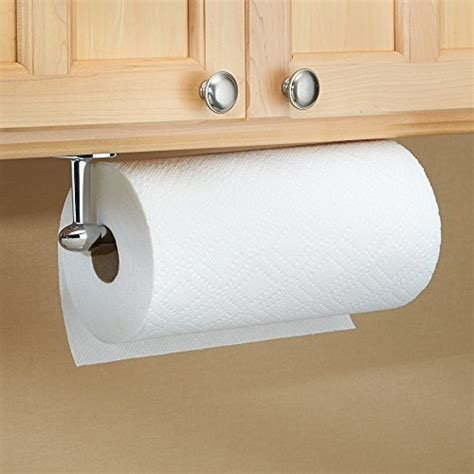 under cabinet towel holder interdesign orbinni paper towel holder for kitchen wall
