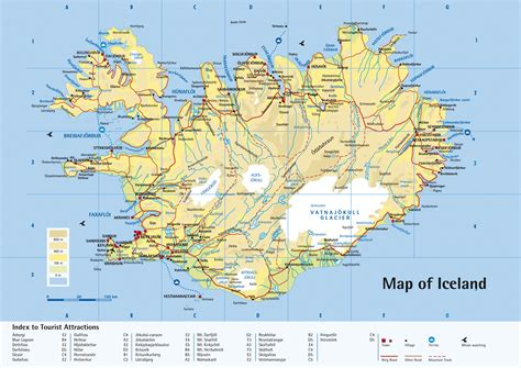 maps  iceland detailed map  iceland  english