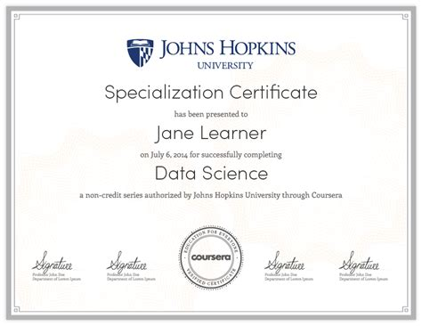 data science a specialization on coursera your pathway