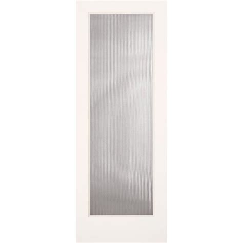 home depot glass interior doors feather river doors 24 in x 80 in reed smooth 1 lite