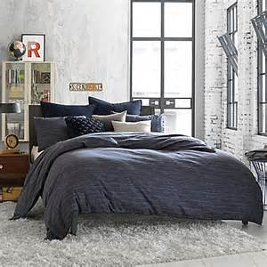kenneth cole reaction home element reversible duvet cover in indigo bed bath beyond