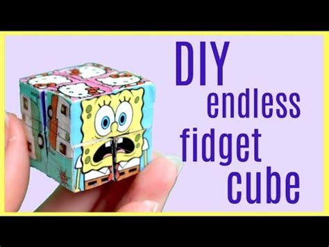 diy endless infinity fidget cube magic folding duct tape