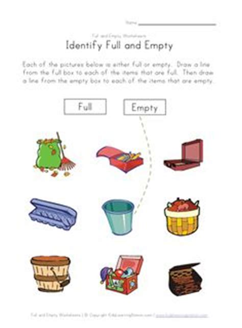 full  empty images worksheets  kids