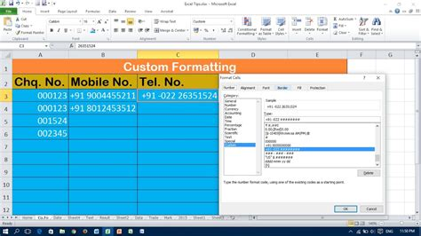 Format Exle by Tricks For Custom Number Format In Excel Must
