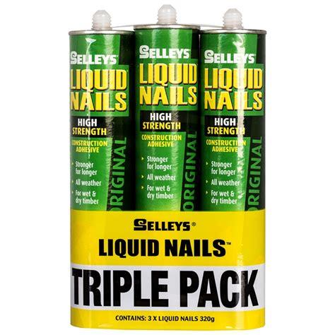 liquid nails selleys 320g liquid nails construction adhesive 3 pack bunnings warehouse
