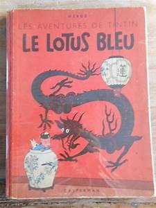 Le Lotus Bleu Levallois : tintin kuifje le lotus bleu 1946 catawiki ~ Gottalentnigeria.com Avis de Voitures