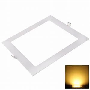 V led recessed ceiling panel light square
