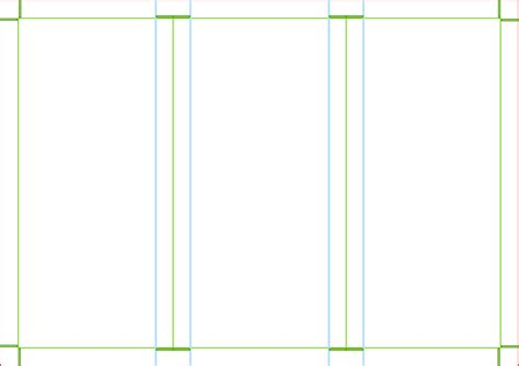 Trifold Template Clipart Trifold Brochure Template A4 Page Size Landscape