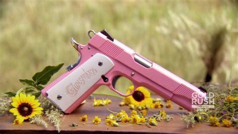 pink guns 1911 custom american ar15 gun girly gunsmoke colt handgun grips wife don understand hand different airsoft firearms weapons