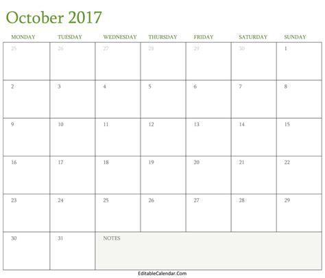 calendar 2017 template october october 2017 calendar template monthly calendar 2017