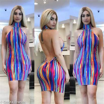 Summer Party Trendy Bodycon Outfit Mini Colorful