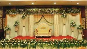 Simple Wedding Stage Decoration at Home - YouTube