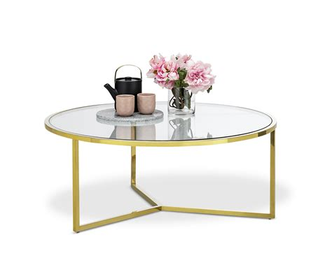 Round coffee table with glass top. Deco Luxe Coffee Table Round in Polished Gold Tempered Glass Hollywood Regency | eBay