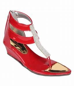 Trilokani Red Sandals For Girls Price in India- Buy ...