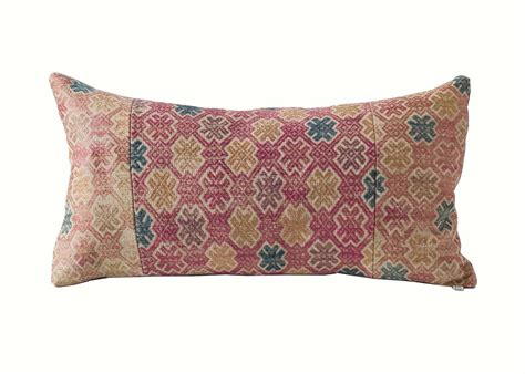 Miao Brocade Hand Loomed Textile Pillow Lumbar At 1stdibs