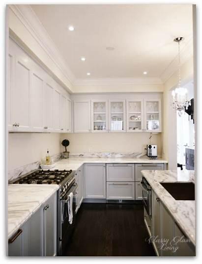 Upper Cabinets Kitchen Update Glass Doors Hood