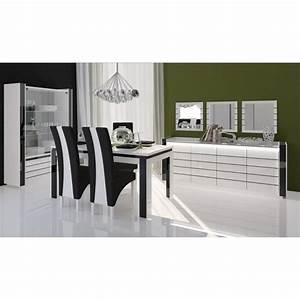 Vitrine Salle à Manger : salle manger salle manger lina buffet vitrine table 160cm ~ Teatrodelosmanantiales.com Idées de Décoration