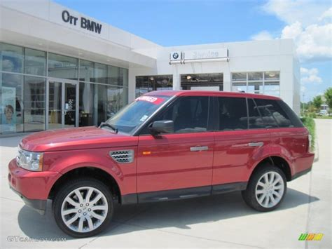 red land rover 2006 rimini red metallic land rover range rover sport