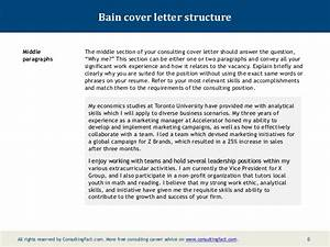 bain cover letter sample With cover letter bain and company