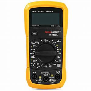 Peakmeter Ms8233a Digital Multimeter Manual Range Mini