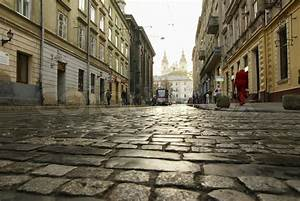 Street Lviv in the early morning | Stock Photo | Colourbox