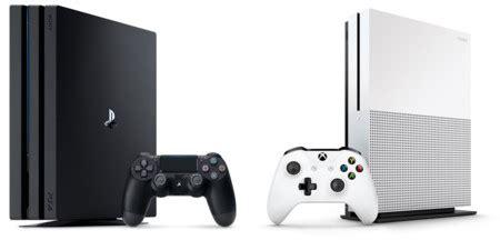 ps4 pro vs xbox one s las nuevas consolas frente a frente