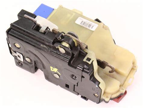 lh rear door latch actuator module   vw phaeton