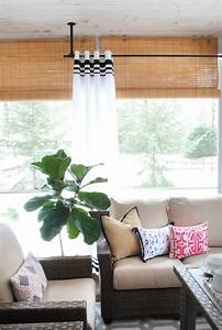 Diy Striped Outdoor Curtains