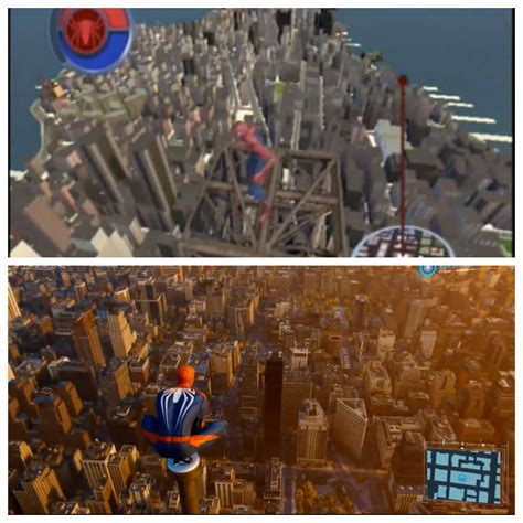 spider man   spider man ps world map comparison shows
