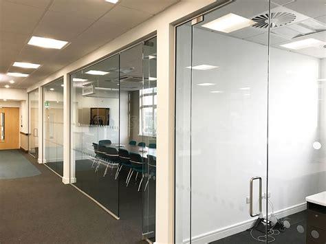 glass  work single glazed glass office