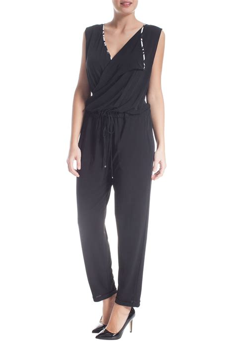 jumpsuit plus size miro 39 plus size jumpsuit in black lyst