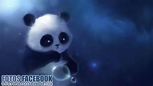 Oso panda con burbujas