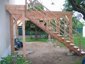terrasse bois sur pilotis en kit With fabriquer une terrasse en bois sur pilotis