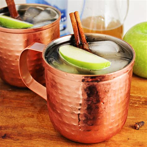mule drink spiced apple moscow mule cocktail recipe home cooking memories