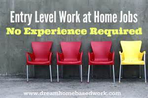 Work at Home Jobs No Experience