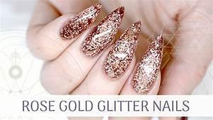 Rose Gold Sprühlack : tutorial rose gold glitter nails how to apply glitter ~ A.2002-acura-tl-radio.info Haus und Dekorationen